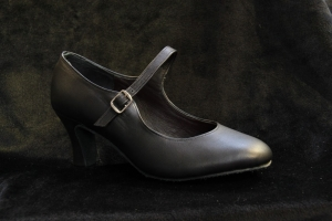 H No. 8238 Black (2, 2.5 inches thick heel)